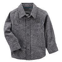 Toddler Boy OshKosh B'gosh® Gray Button Flannel Shirt