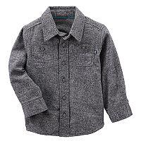 Toddler Boy OshKosh B'gosh® Gray Button Flannel Shirt