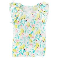 Toddler Girl OshKosh B'gosh® Slubbed Pattern Flutter Short Sleeve Tee