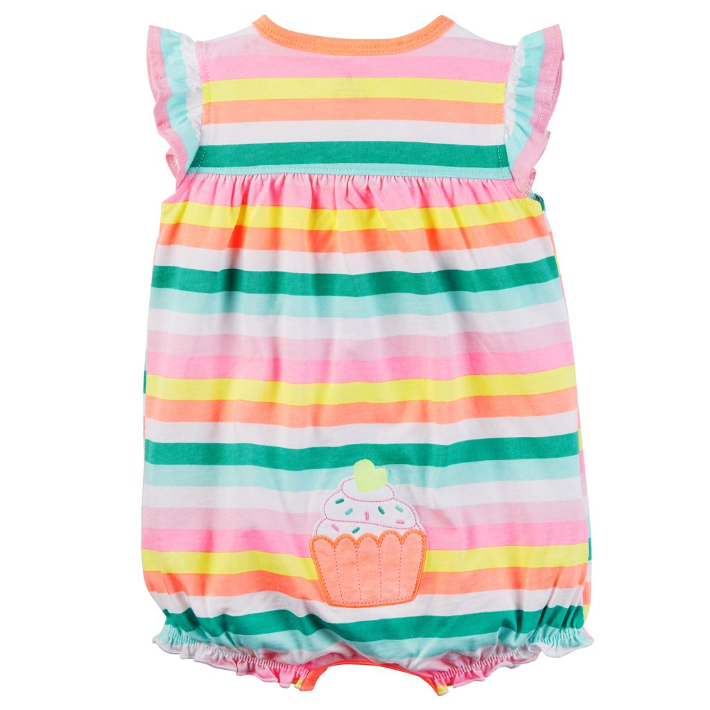 Baby Girl Carter's Embroidered Applique Romper