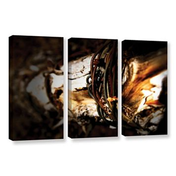 ArtWall Mend Rope & Tree Canvas Wall Art 3-piece Set