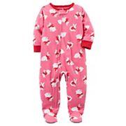 Toddler Girl Carter's Bunny Fleece Footed Pajamas