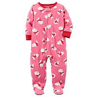 Toddler Girl Carter's Bunny Fleece Footed Pajamas
