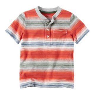Boys 4-8 Carter's Striped Pocket Henley Tee