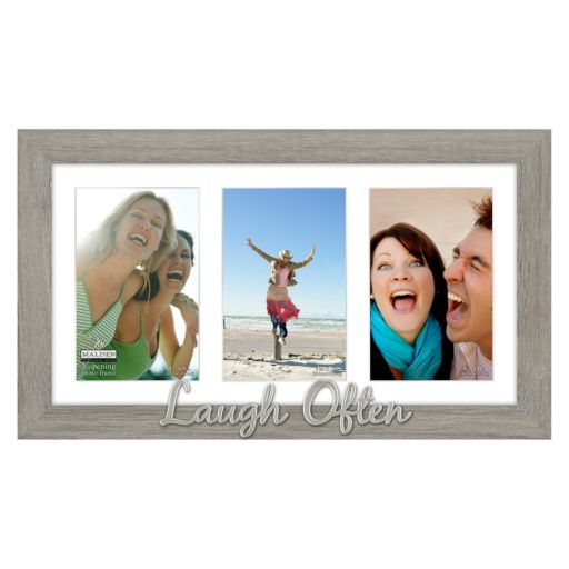 "Malden ""Laugh Often"" 3-Opening 4"" x 6"" Collage Frame"