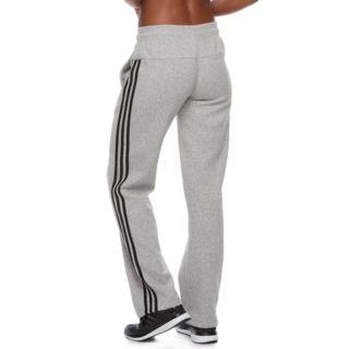 Women's adidas Essential Fleece 3 Stripe Open Hem Pants