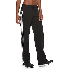 Women's adidas Essential Fleece 3 Stripe Open Hem Pants