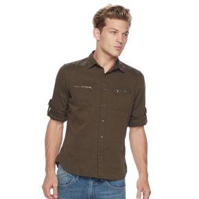 Men's Rock & Republic® Herringbone Stretch Button-Down Shirt