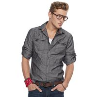 Men's Rock & Republic® Herringbone Stretch Button-Down Shirt