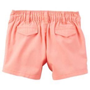 Baby Girl Carter's Cuffed Twill Shorts