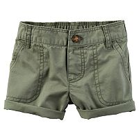 Baby Girl Carter's Cuffed Twill Shorts