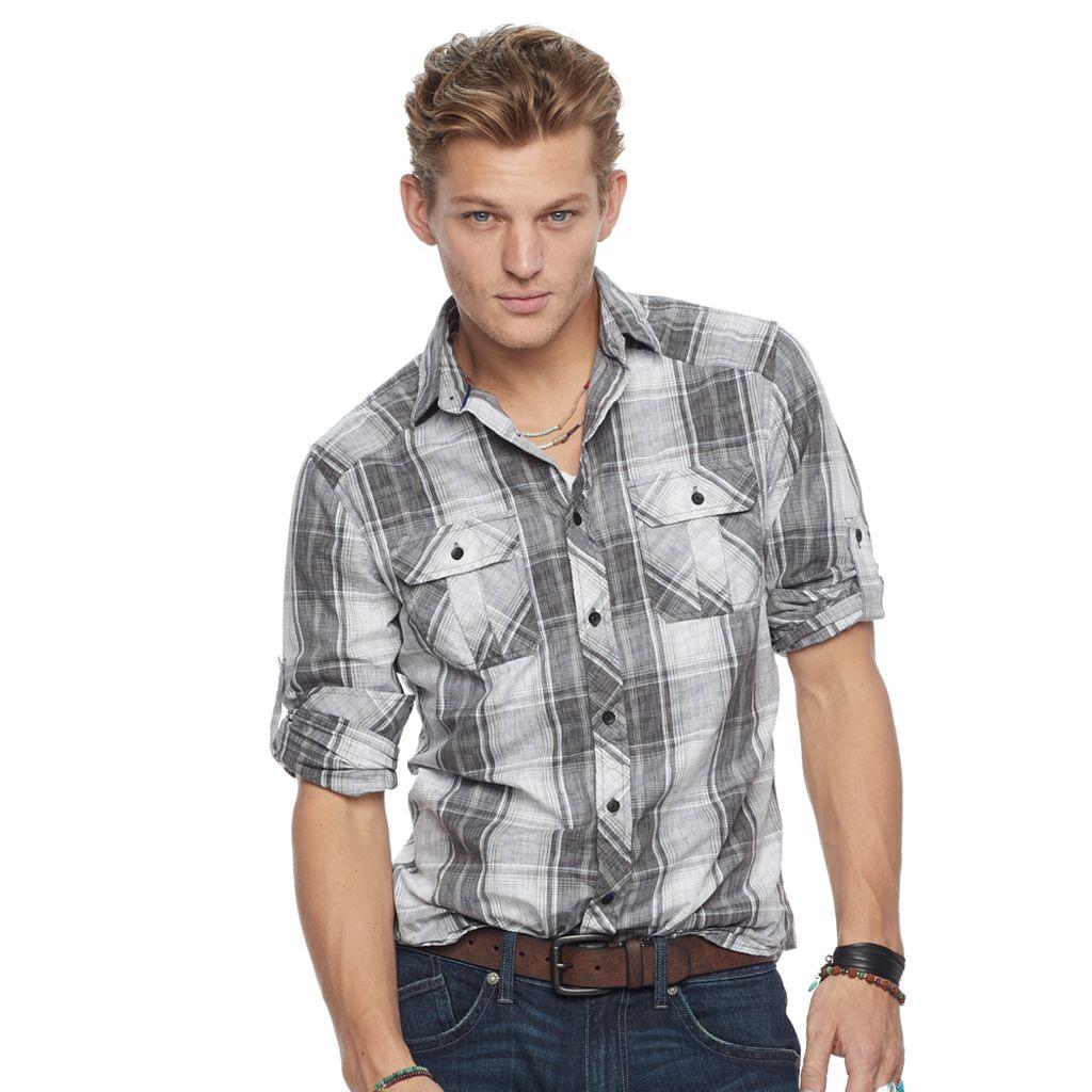 Men's Rock & Republic Plaid Button-Down Shirt