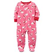 Baby Girl Carter's Bunny Fleece Sleep & Play