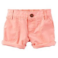 Girls 4-8 Carter's Cuffed Twill Shorts