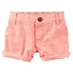 Girls 4-8 Carter's Cuffed Twill Shorts