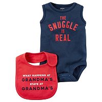 Baby Boy Carter's Graphic Bodysuit & Graphic Bib Set