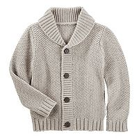 Toddler Boy OshKosh B'gosh® Waffle Knit Shawl Sweater