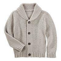 Toddler Boy OshKosh B'gosh® Waffle Knit Shawl Sweater