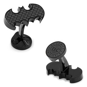 DC Comics Batman Logo Stainless Steel Cuff Links