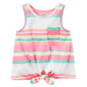 Baby Girl Carter's Print Knot-Front Tank Top