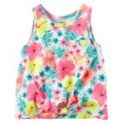 Girls 4-8 Carter's Floral Knot-Front Tank Top