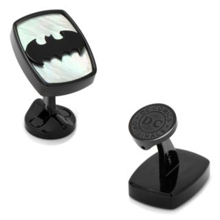 DC Comics Mother-of-Pearl Stainless Steel Batman Cuff Links