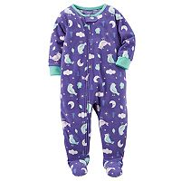 Baby Girl Carter's Birds Fleece Sleep & Play
