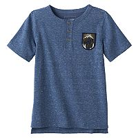 Boys 4-7x SONOMA Goods for Life™ Patched High-Low Henley Tee