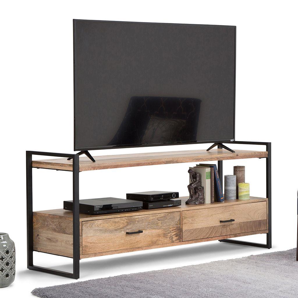 Simpli Home Riverside Rustic TV Stand