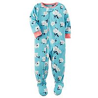 Toddler Girl Carter's Floral Fleece Footed Pajamas