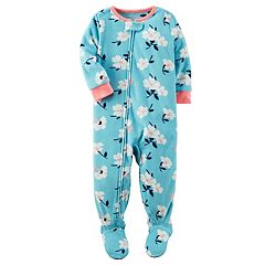 Toddler Girl Carter's Floral Fleece Footed Pajamas