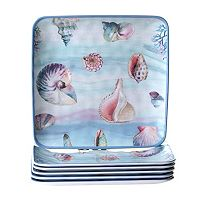 Certified International Ocean Dream 6 pc Dinner Plate Set