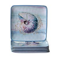 Certified International Ocean Dream 6 pc Salad Plate Set