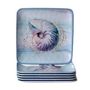Certified International Ocean Dream 6-pc. Salad Plate Set