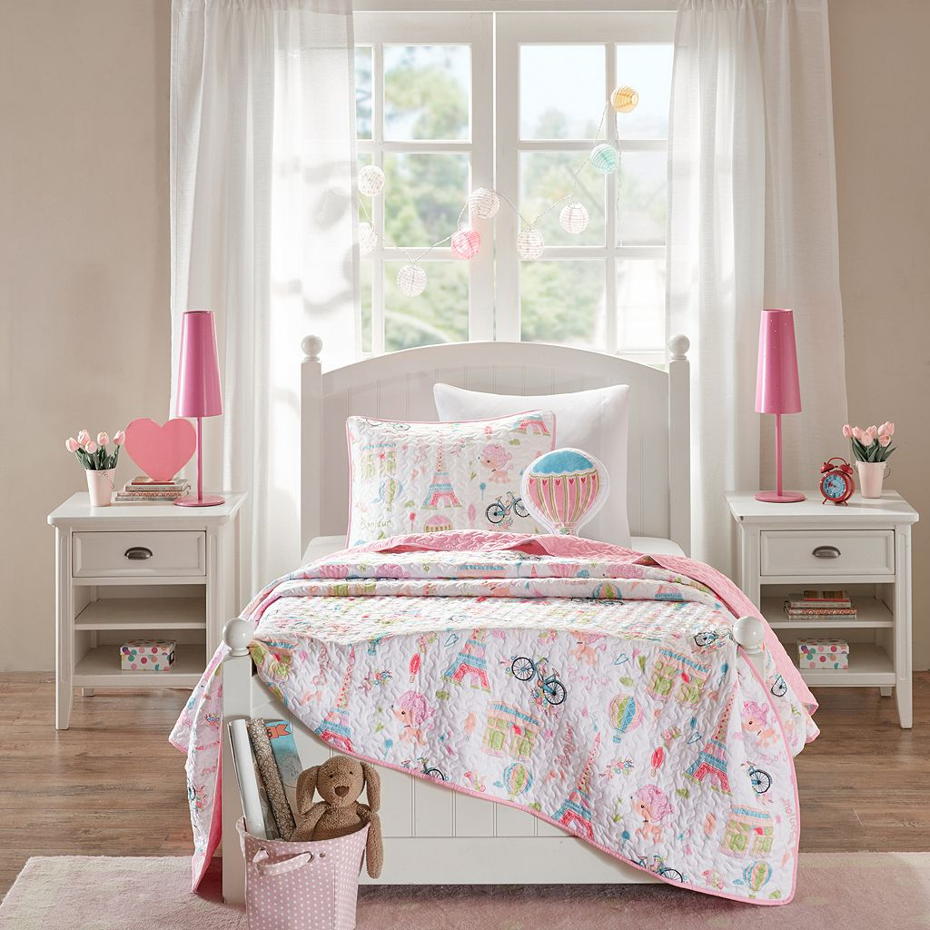 Mi Zone Kids Penelope The Poodle Coverlet Set