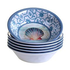 Certified International Ocean Dream 6 pc All-Purpose Bowl Set