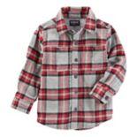 Toddler Boy OshKosh B'gosh® Flannel Twill Plaid Shirt