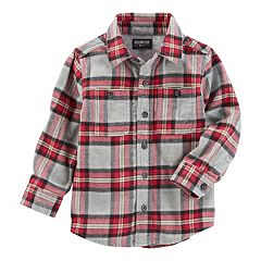 Toddler Boy OshKosh B'gosh® Flannel Twill Plaid Shirt