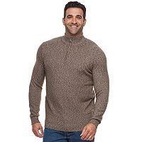 Big & Tall Croft & Barrow® True Comfort Classic-Fit Stretch Quarter-Zip Sweater