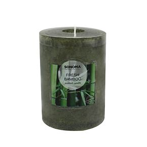 "SONOMA Goods for Life? Fresh Bamboo 4"" x 3"" Pillar Candle"