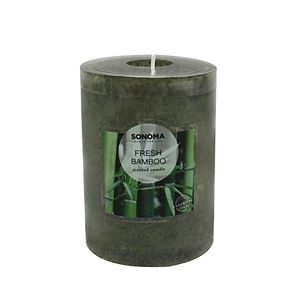 """SONOMA Goods for Life® Fresh Bamboo 4"""" x 3"""" Pillar Candle"""
