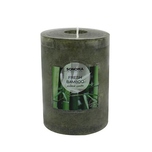 "SONOMA Goods for Life™ Fresh Bamboo 4"" x 3"" Pillar Candle"