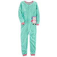 Girls 4-8 Carter's Owl Applique Microfleece One-Piece Pajamas