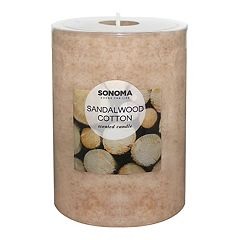 SONOMA Goods for Life™ Sandalwood Cotton 4' x 3' Pillar Candle