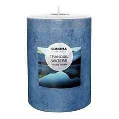 SONOMA Goods for Life™ Tranquil Waters 4' x 3' Pillar Candle