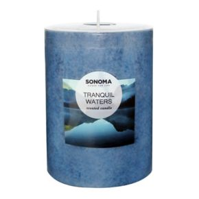 "SONOMA Goods for Life™ Tranquil Waters 4"" x 3"" Pillar Candle"