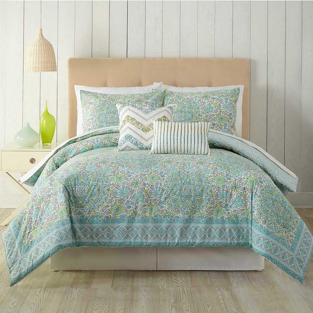 Stamped Floral 5-piece Comforter Set