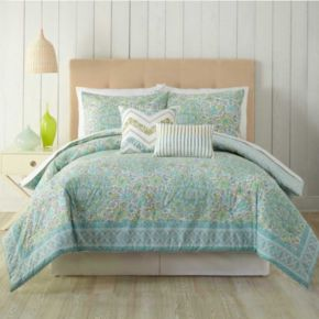 Stamped Floral 5-piece Comforter Set