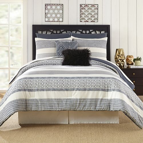 Deco Stripe 7-piece Comforter Set