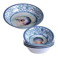 Certified International Ocean Dream 5 pc Salad Serving Set